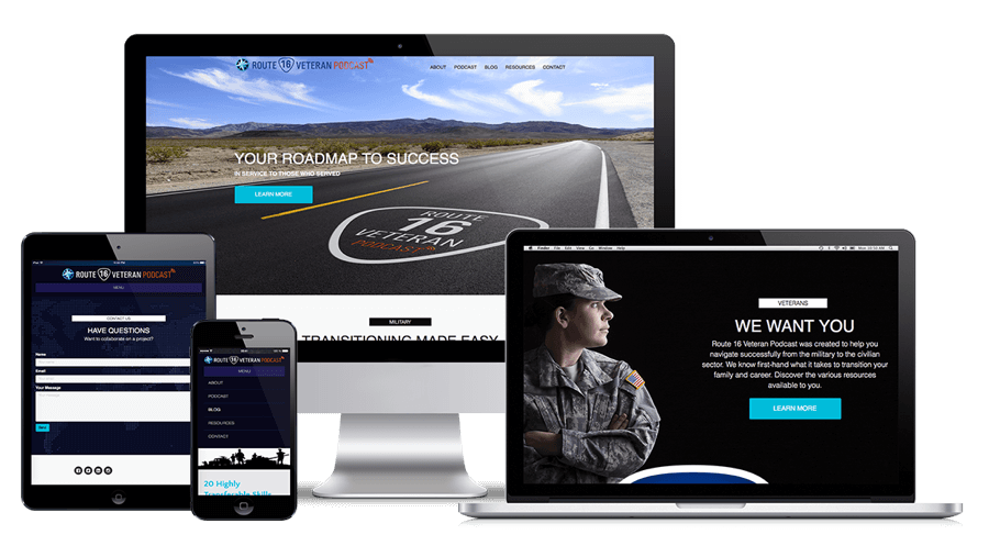 Route 16 Veteran Podcast Website Design