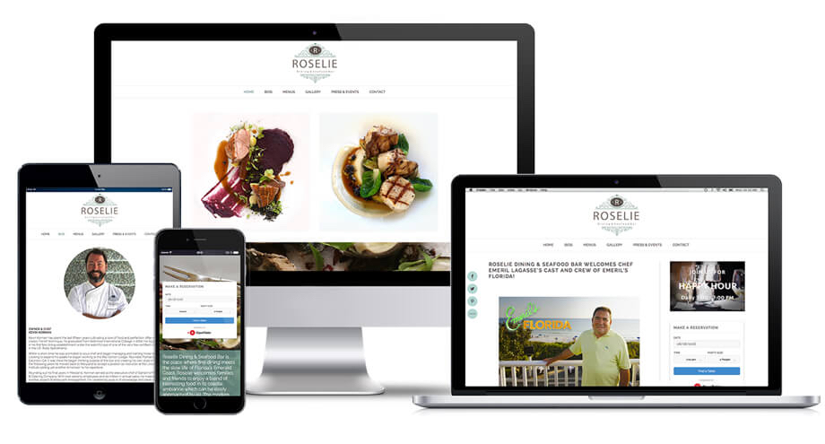 Roselie Dining Web Design