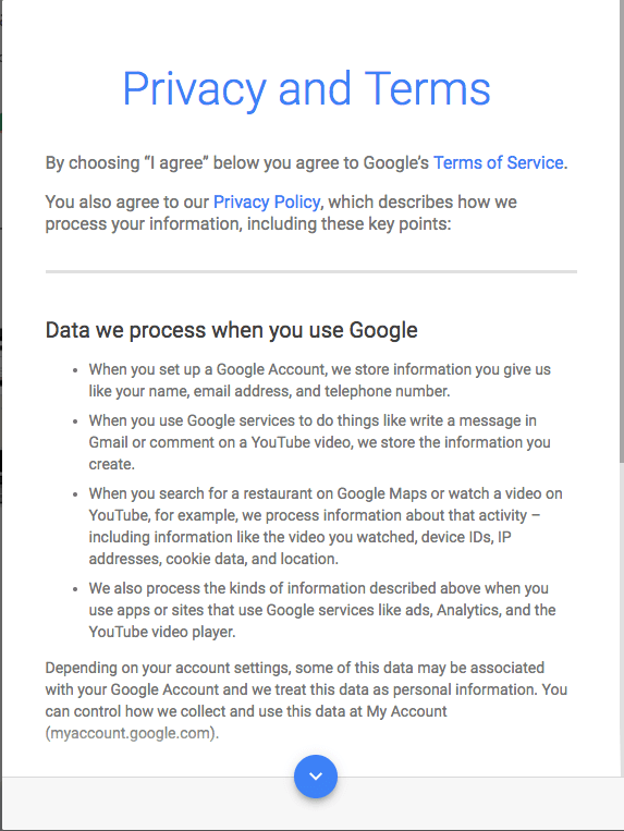 Gmail Privacy and Terms