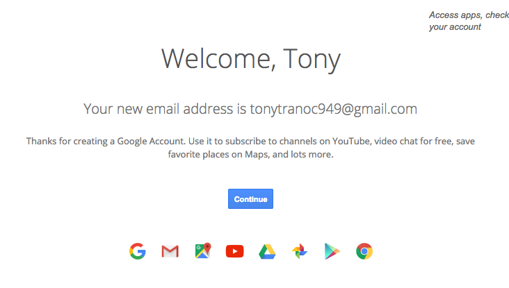Welcome to Gmail