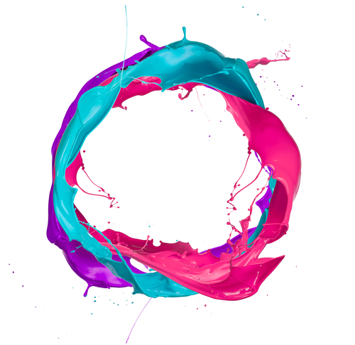 pink and blue mixed