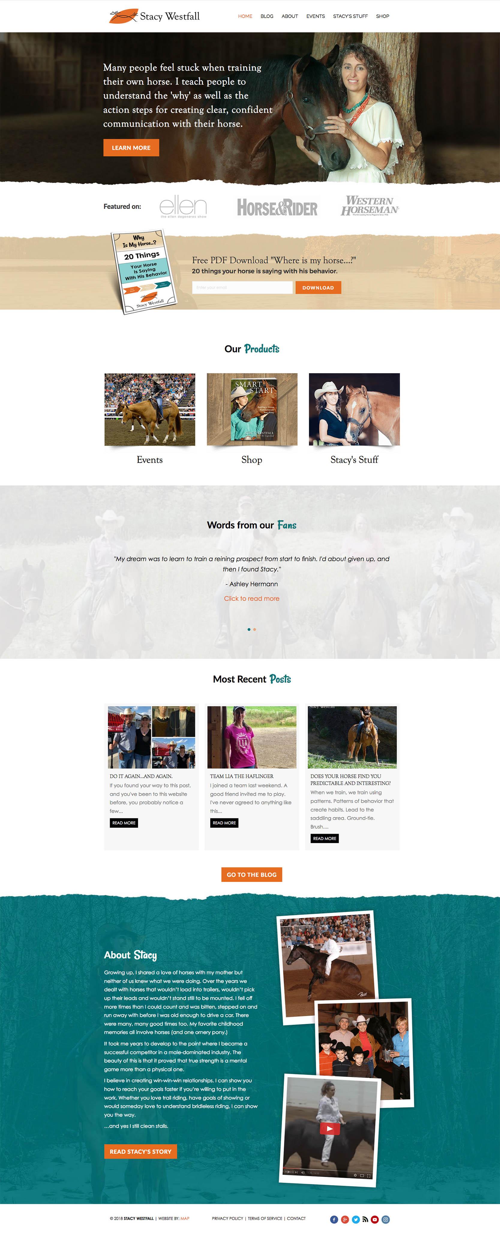 Stacy Westfall Homepage