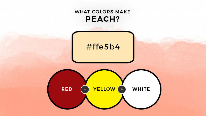 what colors make peach
