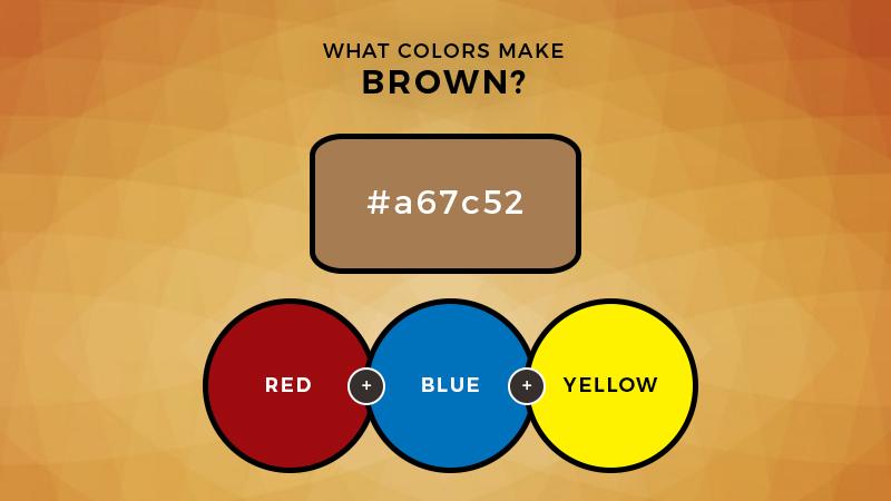 what colors make brown