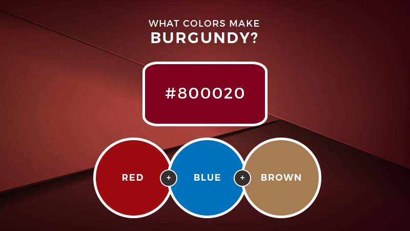 what colors make burgundy