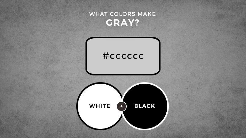 what colors make gray