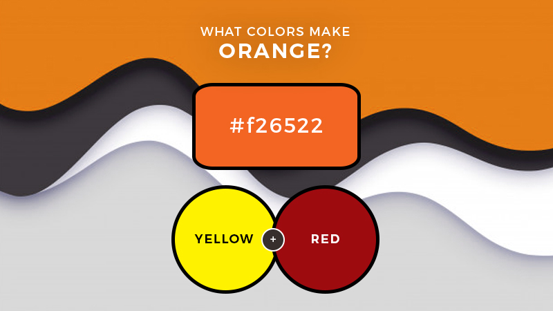 What two colors make orange