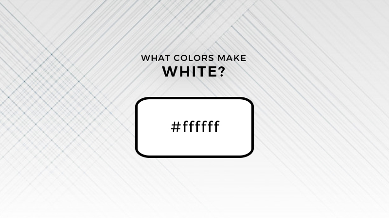 what colors make white