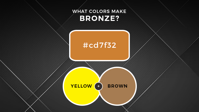 What colors make bronze
