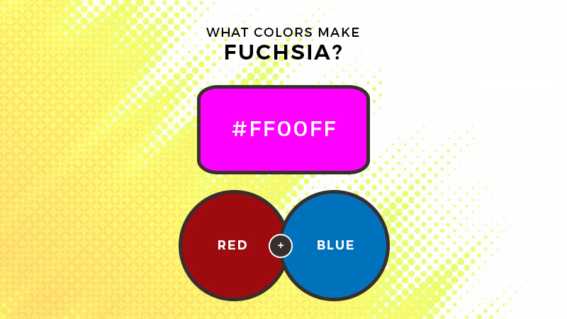 What colors make fuchsia
