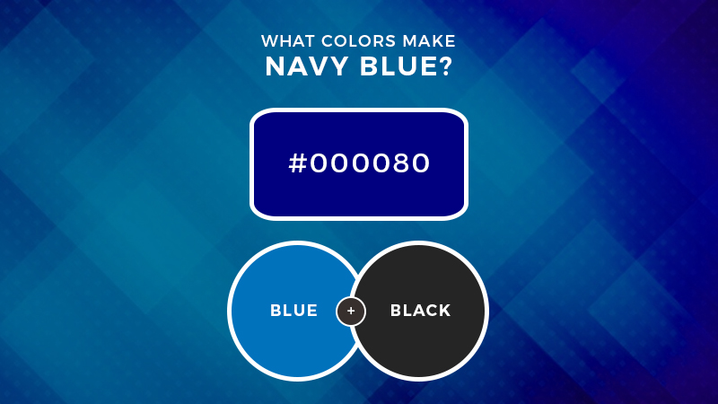 What colors make navy blue