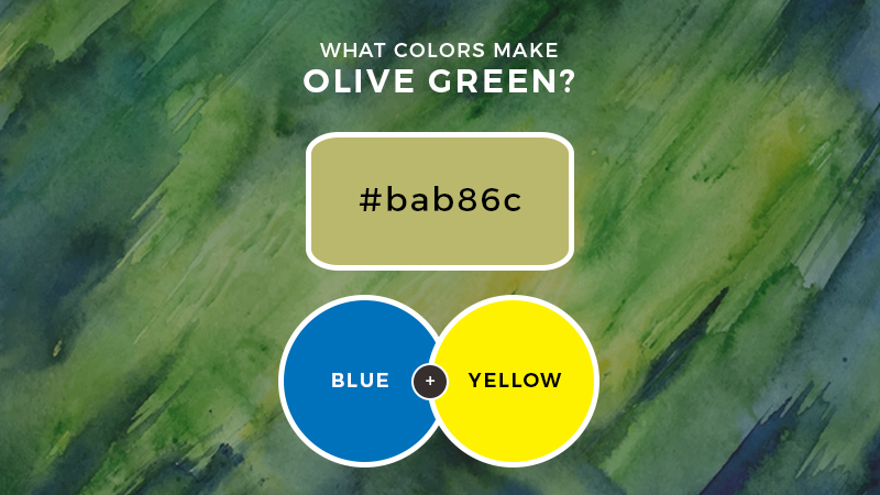 What colors make olive green