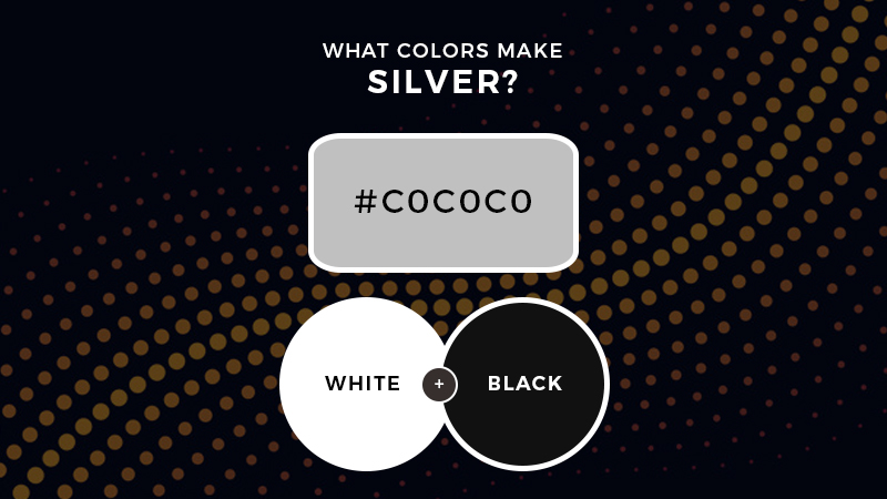 What colors make silver