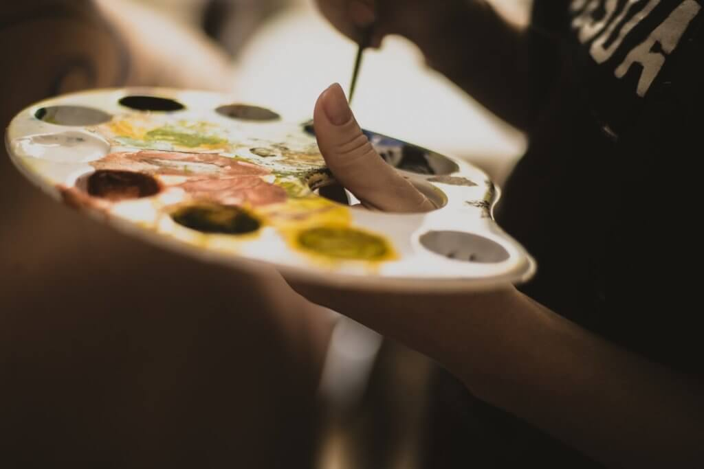 Painting and mixing colors