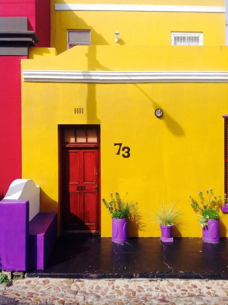 Purple and Yellow House Painting