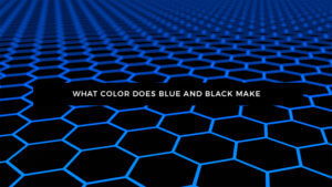 What Color Does Black and Blue Make