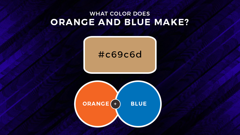 Blue And Orange Mixed What Color Does Orange And Blue Make