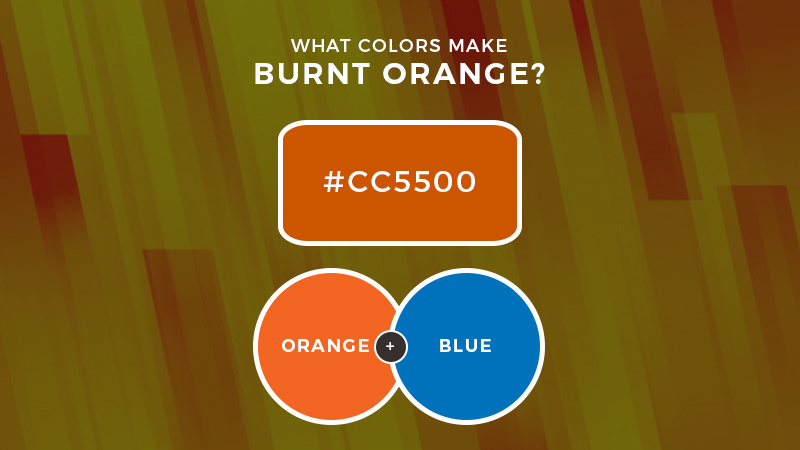 What colors make burnt orange