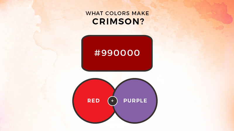 What colors make crimson