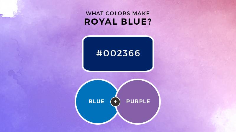 What colors make royal blue