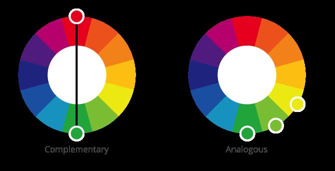 Complementary, Analogous Color Scheme