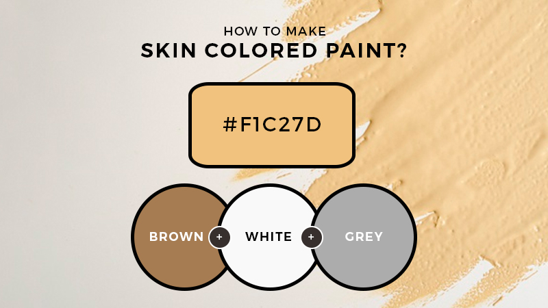 How to make skin colored paint?
