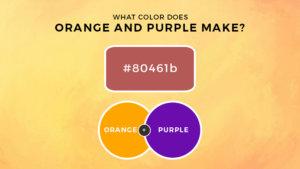 Orange and Purple Mixed