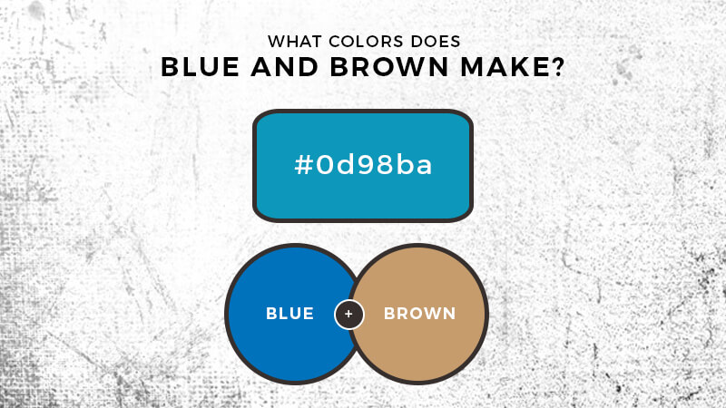 What color does blue and brown make