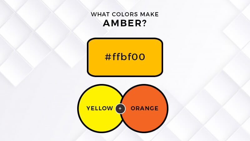 what two colors make amber