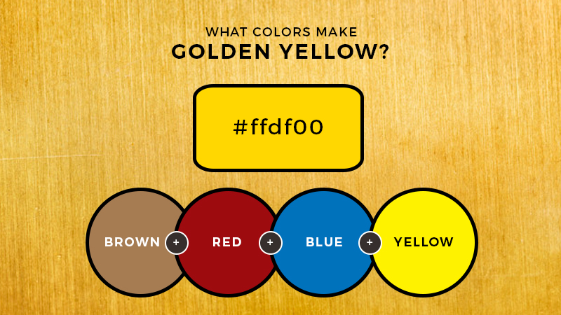 What Colors Make Golden Yellow