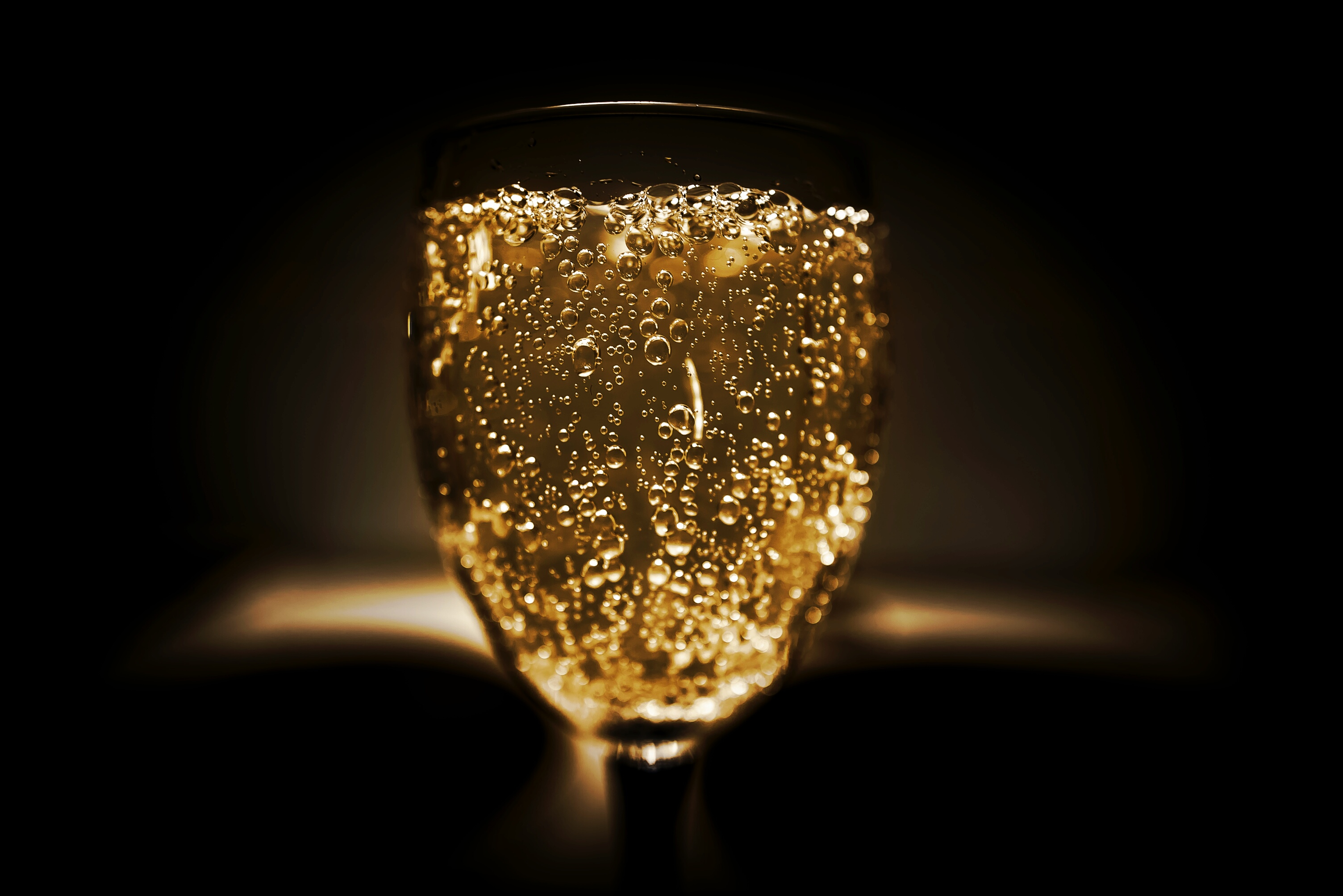 Champagne on Glass