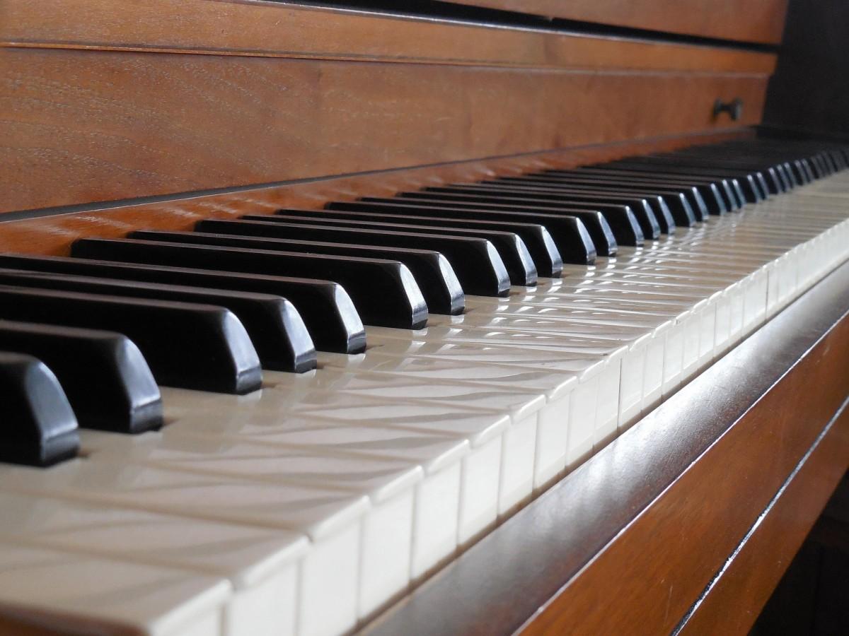Ebony piano keys