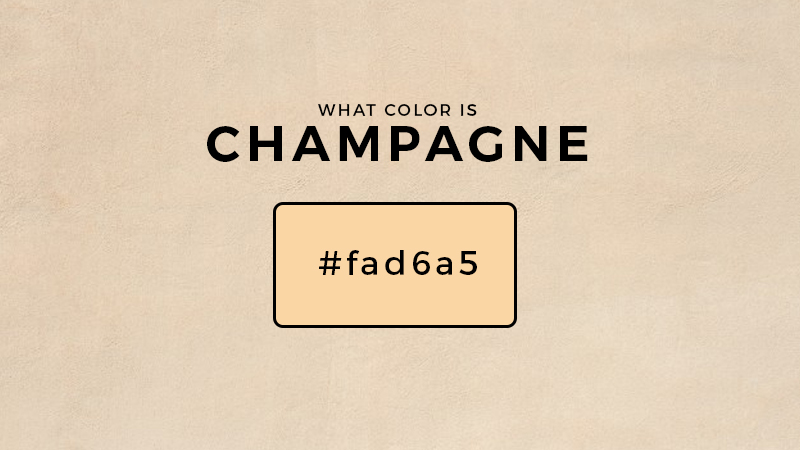 What color makes champagne