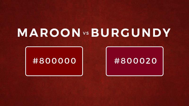 maroon vs burgundy