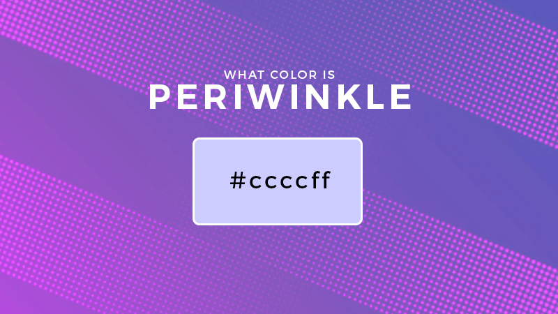 what color is periwinkle